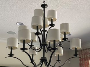 2 large Chandeliers with LED bulbs included